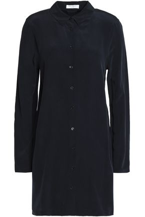 EQUIPMENT Washed-silk mini shirt dress