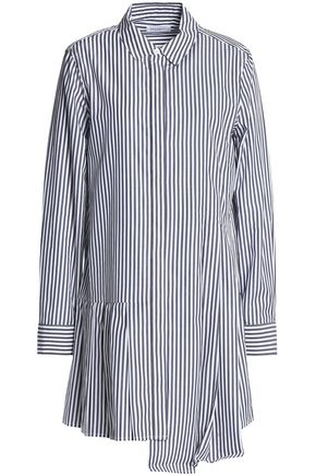 EQUIPMENT Striped cotton-poplin mini dress