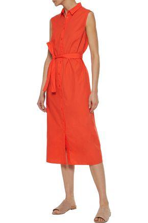 IRIS & INK Cotton-poplin midi shirt dress