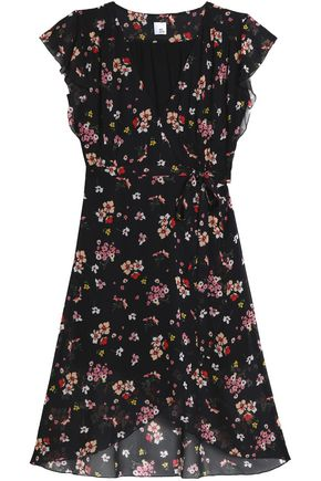 IRIS & INK Floral-print crepe de chine wrap dress