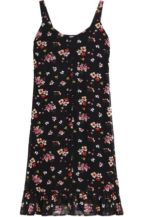 IRIS & INK Dakota floral-print midi dress