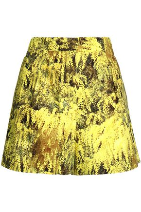 VIONNET Printed stretch-cotton shorts