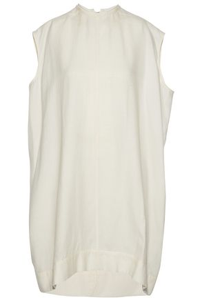 RICK OWENS Oversized brushed silk and wool-blend top