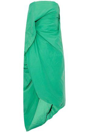 RICK OWENS Strapless draped shell midi dress
