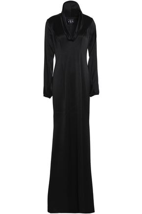 BLACK HALO Cutout satin gown