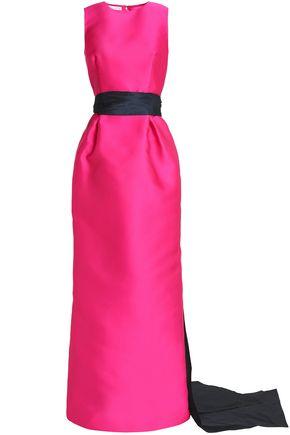 OSCAR DE LA RENTA Two-tone satin gown