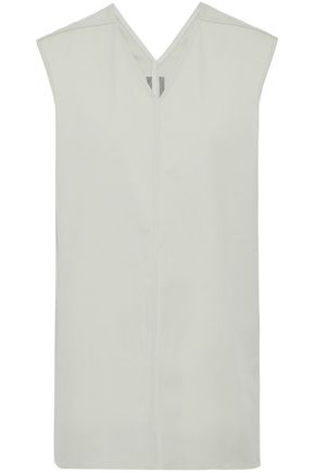 RICK OWENS Cotton-blend canvas top