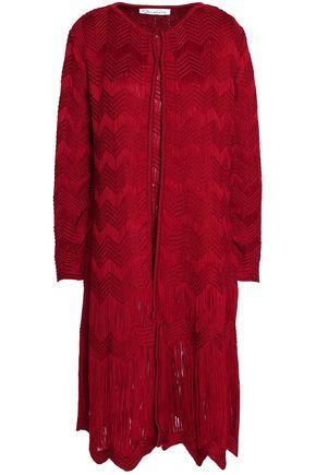 OSCAR DE LA RENTA Crocheted silk jacket