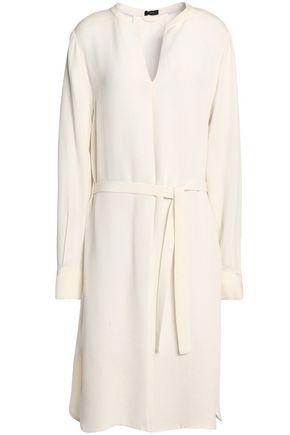 JOSEPH Belted silk-crepe dress
