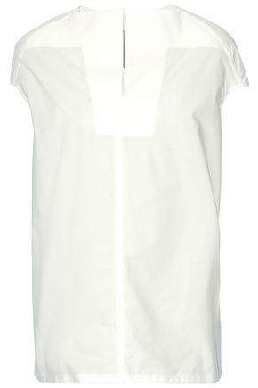 RICK OWENS Cape-effect cotton-poplin top