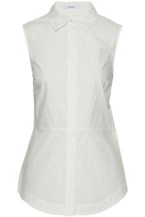 DEREK LAM 10 CROSBY Lace-up cotton-poplin shirt