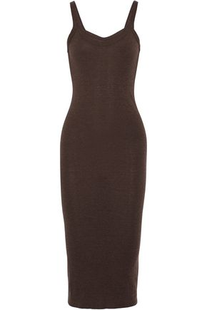 RICK OWENS LILIES Brushed stretch-knit midi dress