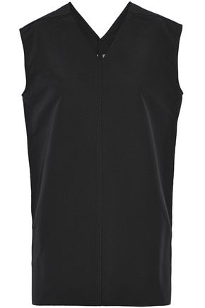 RICK OWENS Cotton and silk-blend faille top