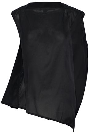 RICK OWENS Gathered silk-organza top