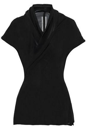 RICK OWENS Silk-chiffon wrap top