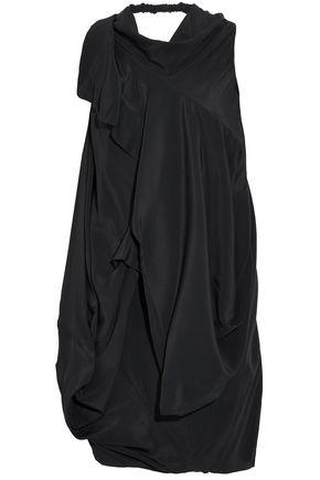 RICK OWENS Open-back draped satin-crepe top