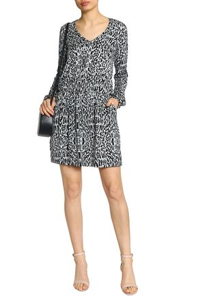 Tart Collections Woman Robby Printed Stretch-modal Mini Dress Black Size L Tart Collections cySwfdel