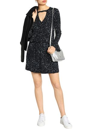 Free Shipping Low Cost Tart Collections Woman Arianne Cutout Printed Stretch-modal Mini Dress Black Size M Tart Collections Fashion Style New Release Sast Cheap Online Xu8fQ1Db
