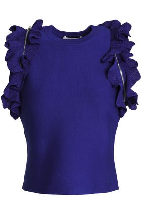 3.1 PHILLIP LIM Ruffle-trimmed stretch-cotton top