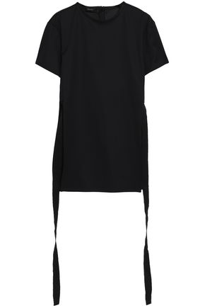 ELLERY Draped cotton-jersey T-shirt