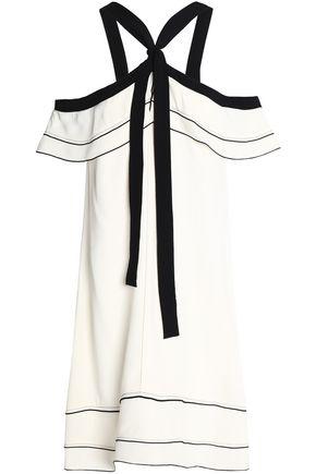 PROENZA SCHOULER Cold-shoulder satin-crepe dress