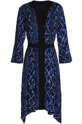 PROENZA SCHOULER Tie-front printed silk-georgette dress