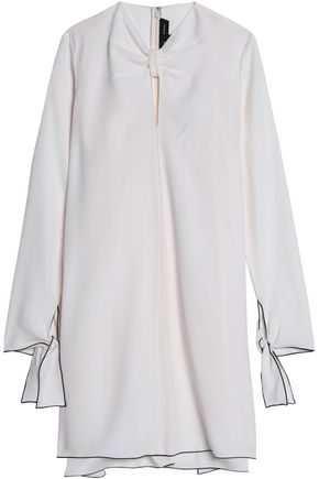 PROENZA SCHOULER Knotted satin-crepe mini dress