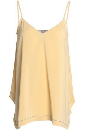 BRUNELLO CUCINELLI Bead-embellished stretch-silk camisole