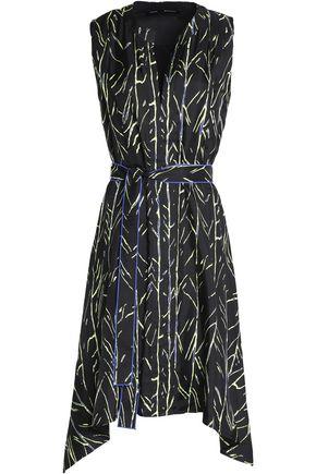 PROENZA SCHOULER Belted printed silk-twill dress