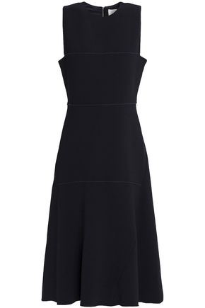 DION LEE Fluted crepe midi dress