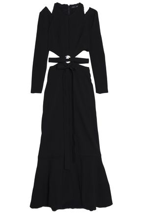 PROENZA SCHOULER Belted cutout crepe gown