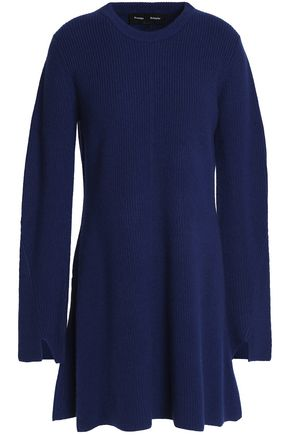 PROENZA SCHOULER Flared wool and cashmere-blend mini dress
