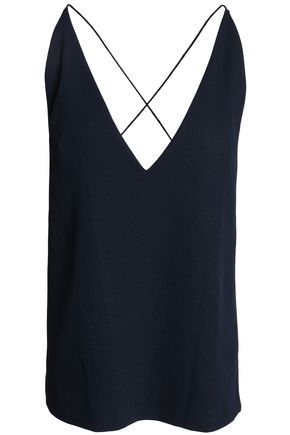 DION LEE Open-back crepe top