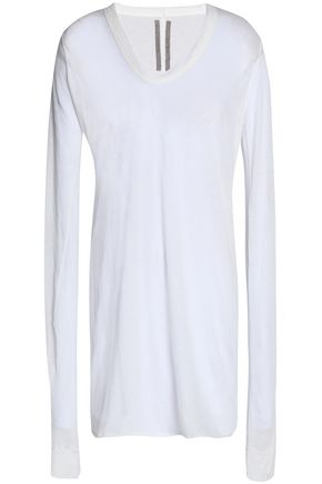 RICK OWENS Slub cotton-jersey top