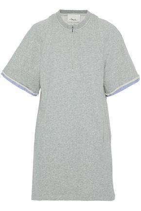 3.1 PHILLIP LIM Poplin-trimmed cotton-terry mini dress