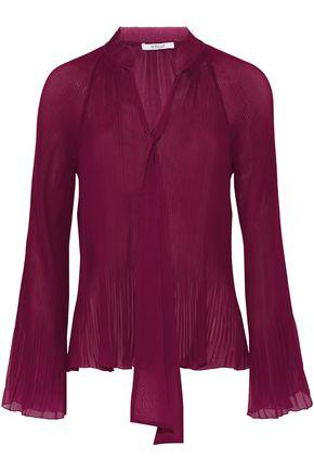 DEREK LAM 10 CROSBY Plissé-chiffon blouse