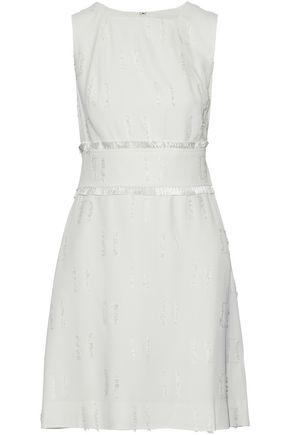 DEREK LAM 10 CROSBY Frayed crepe-jacquard mini dress