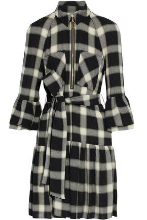 DEREK LAM 10 CROSBY Checked twill mini dress