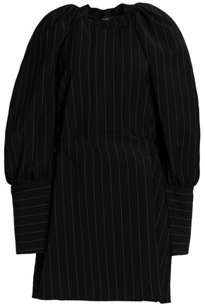 ELLERY Pinstriped knitted mini dress