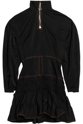 ELLERY Ruffled shirred shell mini dress