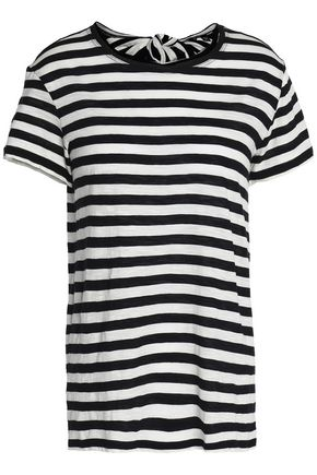 PROENZA SCHOULER Tie-back striped cotton-jersey T-shirt