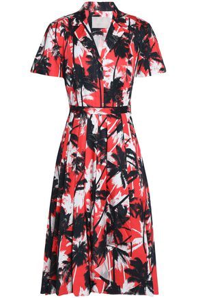 JASON WU Printed cotton-poplin shirt dress