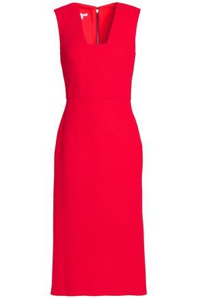 ANTONIO BERARDI Wool and silk-blend crepe dress