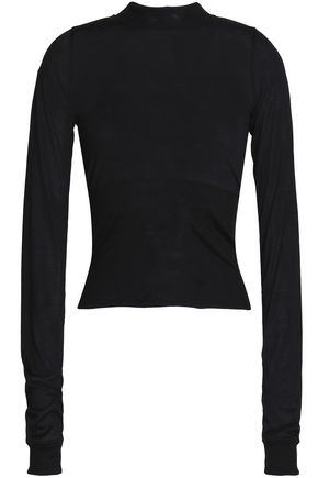 RICK OWENS Ribbed silk sweater