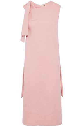 MARNI Asymmetric knotted matelassé dress
