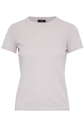 THEORY Slub cotton-jersey T-shirt