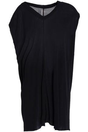 RICK OWENS Asymmetric slub cotton-jersey top