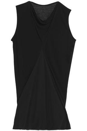 RICK OWENS Crepe de chine-paneled jersey top