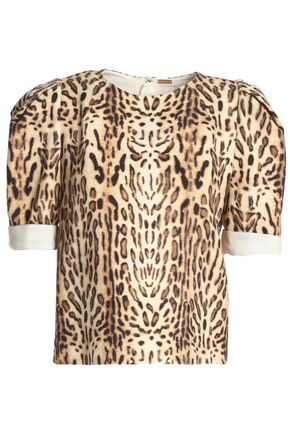 ADAM LIPPES Leopard-print wool top