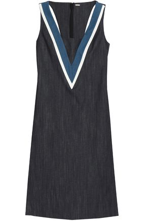 ADAM LIPPES Cutout denim midi dress